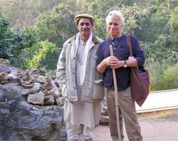 Shantum Seth and Fred Eppsteiner in India
